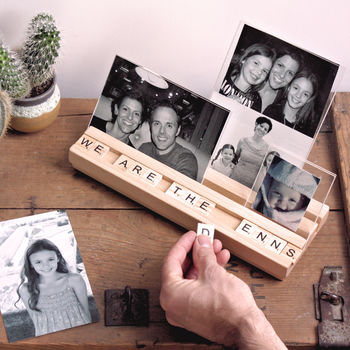Adding Letter to Scrabble Photo Block Frame