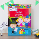 Personalised Ben And Holly Book: My Birthday