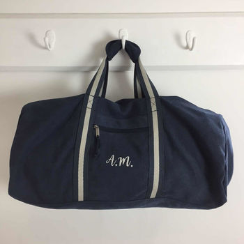 Personalised Canvas Holdall Bag