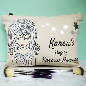 Miss 'Special Powers' Personalised Make Up Bag