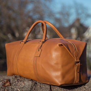 Leather Holdall Bag - gifts for him