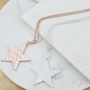 Big Star Pendant Necklace - summer sale