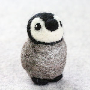 Baby Penguin Mini Needle Felting Craft Kit - traditional toys & games