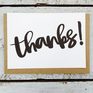 'Thanks!' Card - thank you cards