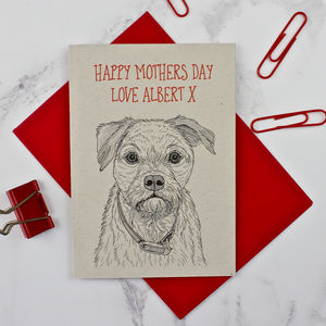 Border Terrier Mother's Day Card