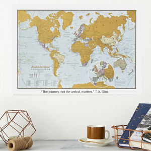 Personalised Scratch The World® Travel Edition Map - maps & locations