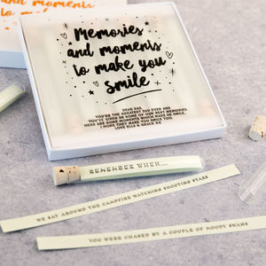 Personalised Memories And Moments Keepsake - capturing memories