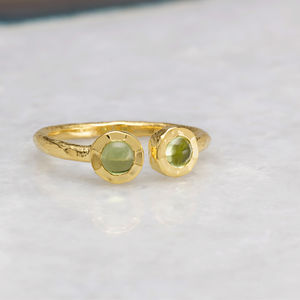 18ct Gold Vermeil Boho Open Ring - new season