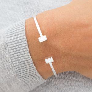 Iona Contemporary Open Bangle - contemporary jewellery