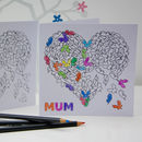 Colouring In Butterfly Blank Card