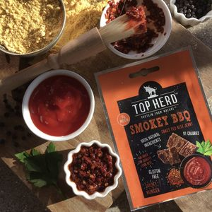 Smokey Bbq Grass Fed Beef Jerky Eight Snack Packs - savouries