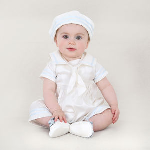 Baby Boy Designer Silk Christening Sailor Suit