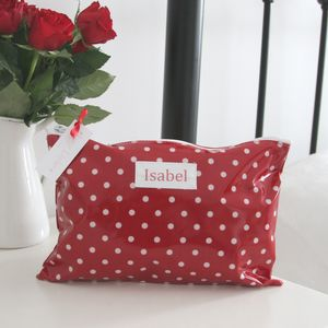 Personalised Spot Make Up Bag - baby changing