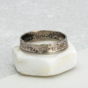 All Dates / Any Size Sixpence Ring 1928 To 1967 - engagement rings