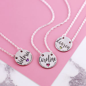 Sterling Silver Mum Necklace With Engraved Names - shop by recipient