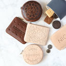 Leather Biscuit Coin Purse