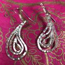 Large Hammered Paisley Earrings