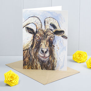 Aries Goat Greeting Card
