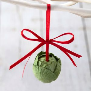 Brussel Sprout Christmas Tree Decoration - decorative accessories