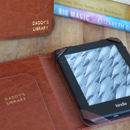 Brown Kindle Case Personlised In Gold