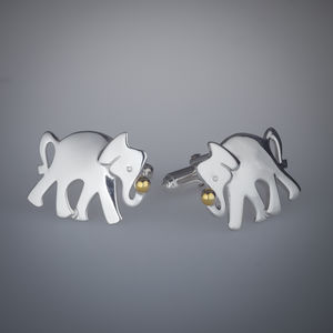 Elephant Playing With Ball Cufflinks