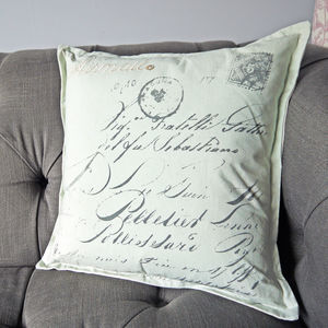 Airmail Letter Cushion - cushions