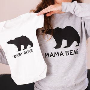 Bear Family Jumper Set - personalised