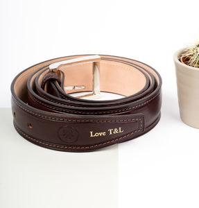 Personalised Groomsmen's Leather Belt. 'The Gianni' - best man & usher gifts