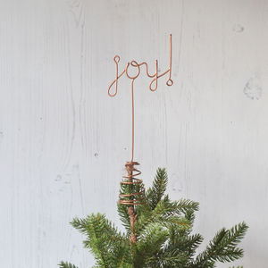 Joy! Wire Christmas Tree Topper - tree toppers