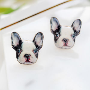 Dog Stud Earrings - earrings