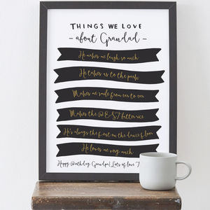Things We Love About Grandad Print - posters & prints