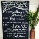 Personalised Order Of The Day Wedding Chalkboard