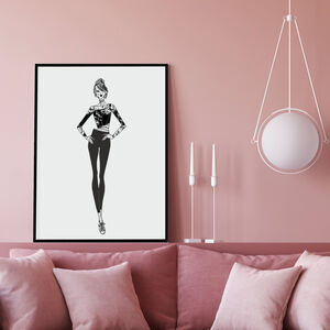 Fashion Illustration Fashion Sarah Wall Art Print