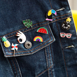 Retro Enamel Pin Badge - children's accessories