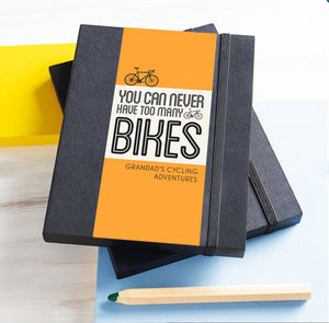 Personalised Bike Notebook - token gifts for dad