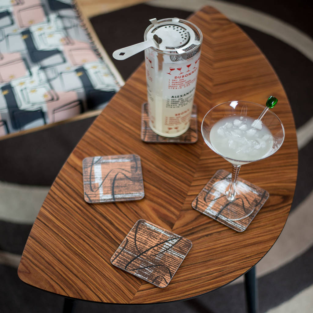 Boxed Set Of Midcentury 'Sedona' Coasters