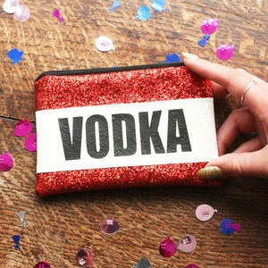 Personalised Vodka Lovers Glitter Coin Purse Gift - purses & wallets