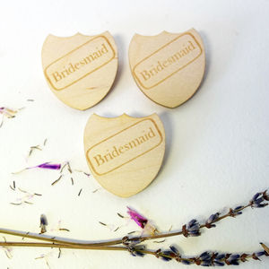 Wedding Favours Wedding Members Wooden Badge - wedding favours
