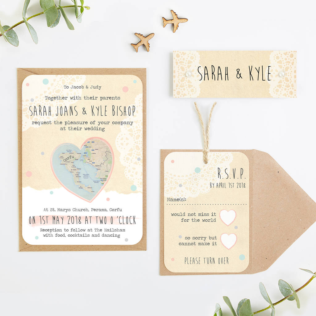 Wedding Invitations With Maps: Map Wedding Invitations By Norma&dorothy