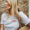 Embroidered Personalised 'Year' Unisex T Shirt