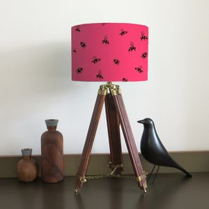 Bumble Bee Lampshade With Fifteen Fabric Colour Options - children's lighting