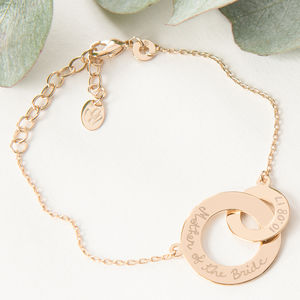 Mother Of The Bride Intertwined Chain Bracelet - bracelets & bangles