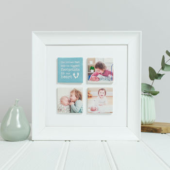 Personalised Framed Baby Photo Tiles