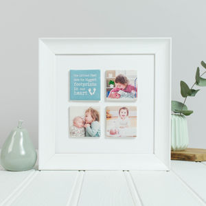 Framed Baby Ceramic Tile Photo Gift - personalised