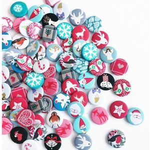 Christmas Fabric Badge Set