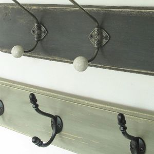 Traditional Vintage Painted Wooden Coat Hooks - hooks, pegs & clips