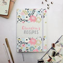 Personalised Recipes Hardback Notebook