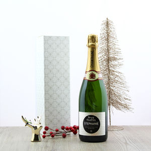 Christmas Personalised Champagne - personalised gifts
