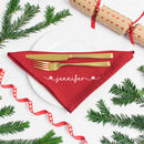 Personalised Christmas Napkins Star Design