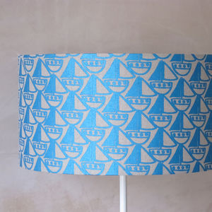 Boat Linen Lampshade